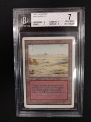 Badlands BGS 7 NM Unlimited MTG Magic Graded Card
